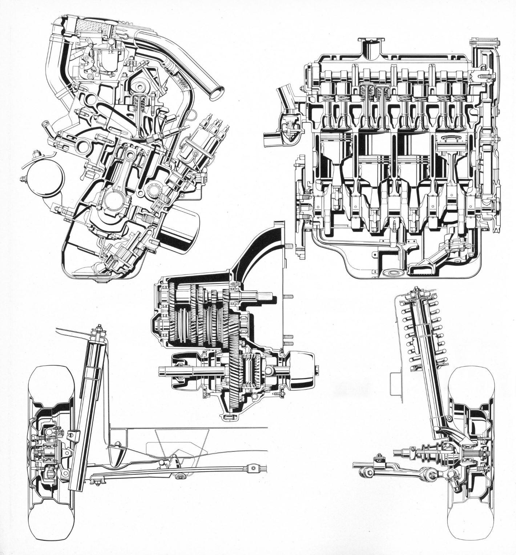 Fiat 128 motore 2 viste, cambio, sospensione ant e post