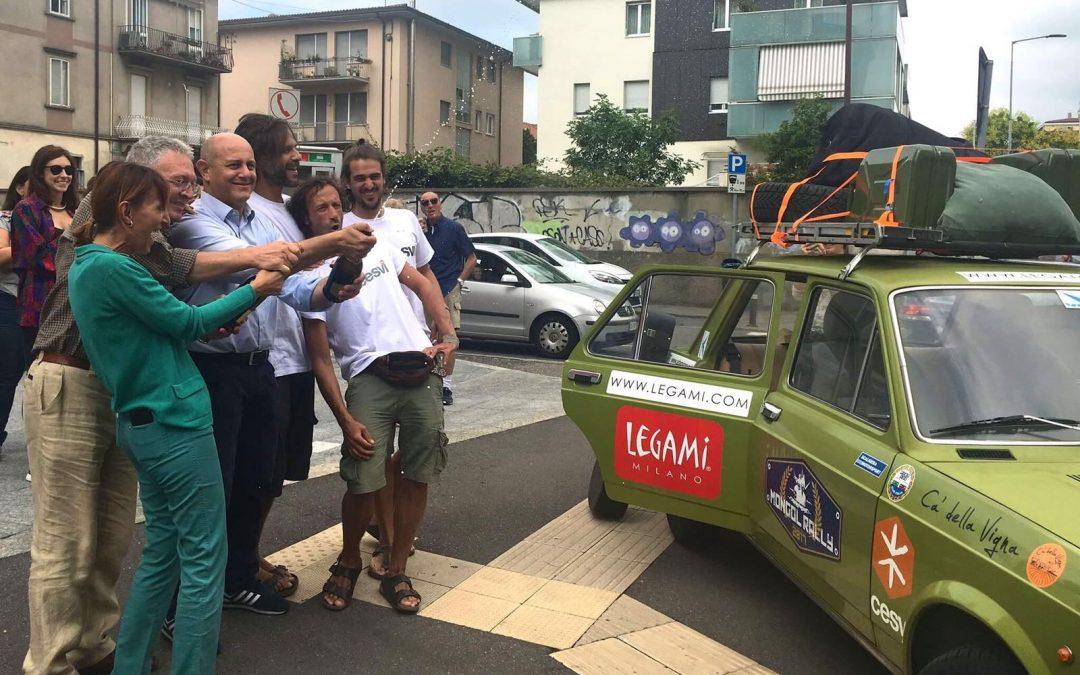 Il Fiat 128 Club Italia con il Team Cesvi al Mongol Rally