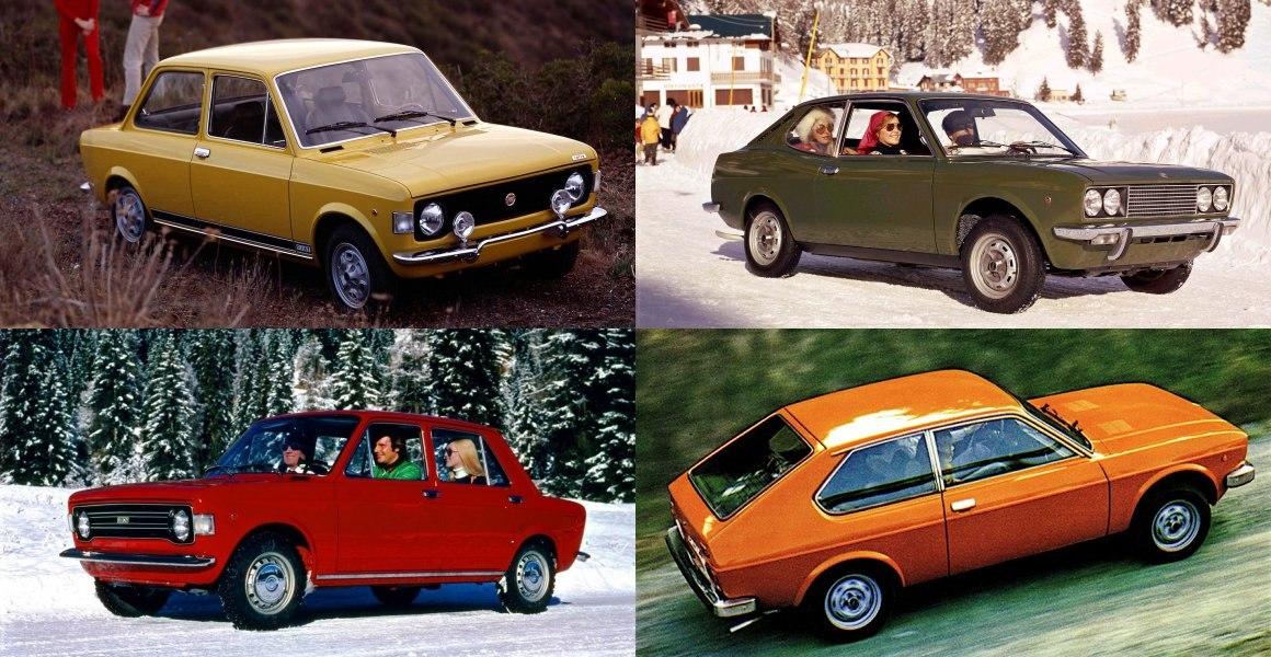 Rally 1971, Sport L 1971, berlina 1973, 3 Porte 1975