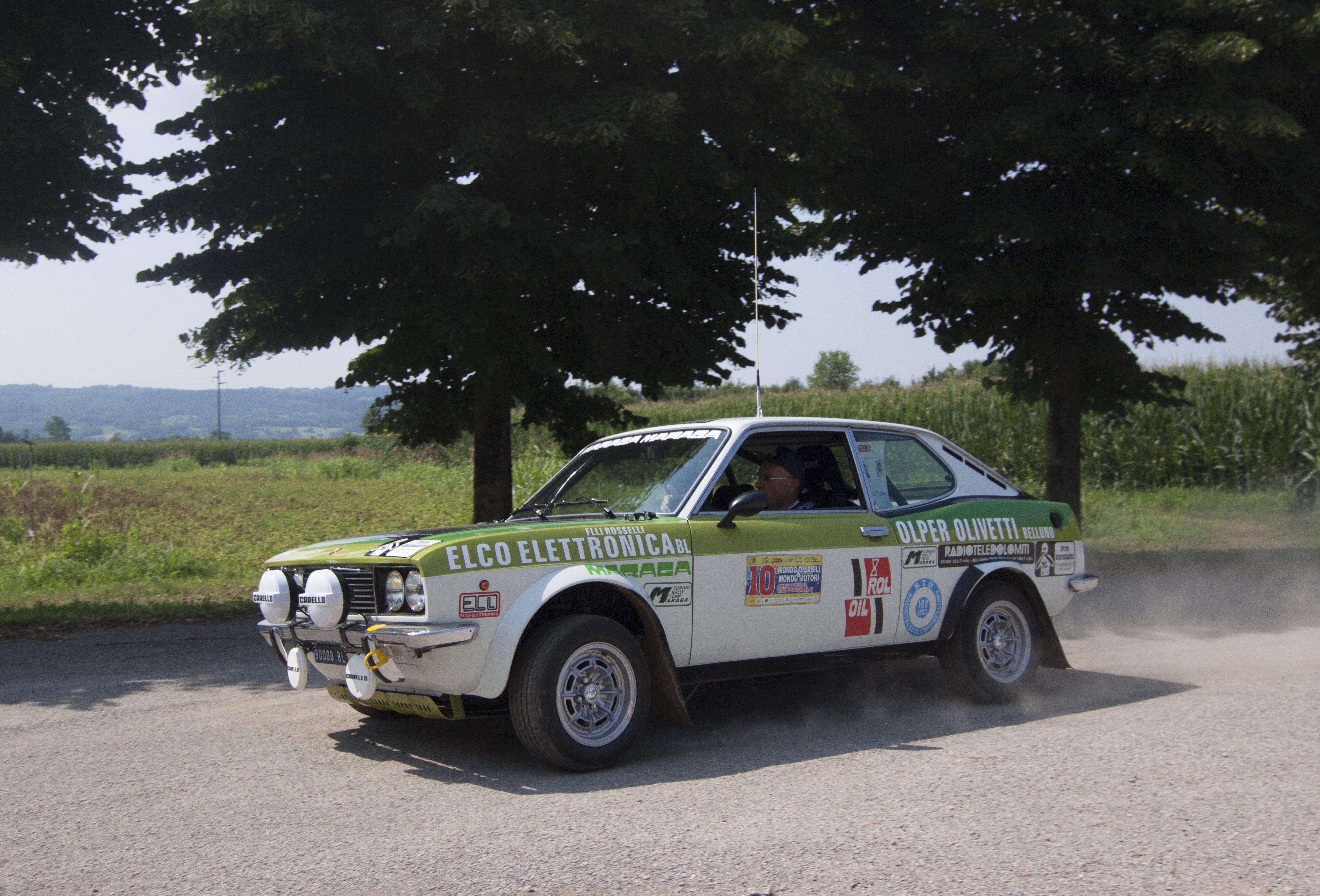 Mauro Lucchet con la 128 Sport Coupé Team Maraga